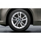 36112471496 - Roata completa de iarna - Double Spoke 474 - cu anvelopa Continental Winter Contact TS860S* - 195/60 R16 - RDCi - BMW Seria 1 F40 Seria 2 F44 | Original BMW